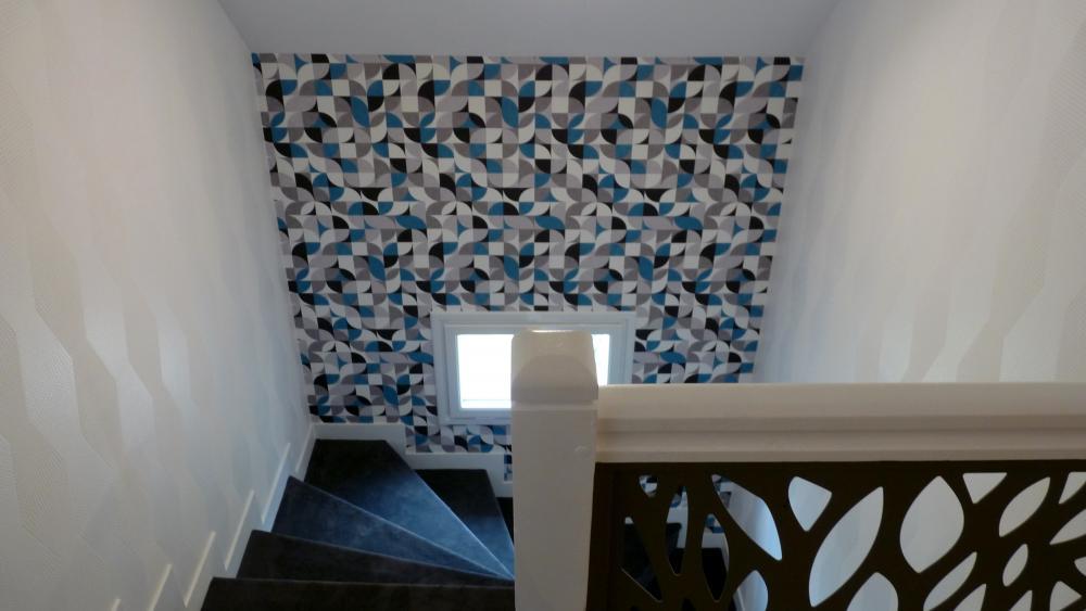Escalier motifs géométriques